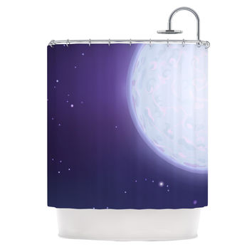 "Fotios Pavlopoulos ""Full Moon"" Night Sky Shower Curtain"