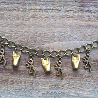 Hunting bracelet. Browning and rimfire bullet casing charm bracelet. Bullet jewelry
