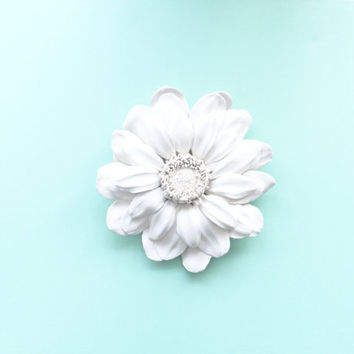 Gerbera Flower Wall Sculpture - White Gerbera Flower