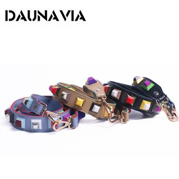 FASHION Rivet Summer Women Bag Strap Snakeskin PU Shoulder Straps For Handbags Casual Replacement Straps For Bags 2017