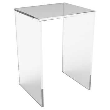 Brickell Side Table, Small, Acrylic / Lucite, Standard Side Tables