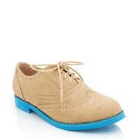 contrast-sole-oxfords BLACK GREY TAN - GoJane.com