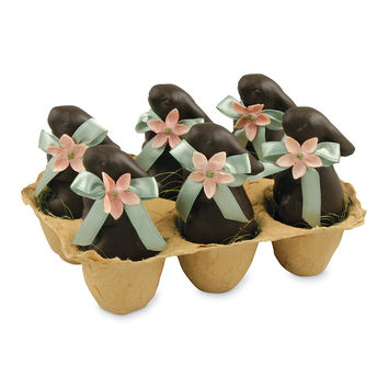 Chocolate Terra Cotta Bunnies Set