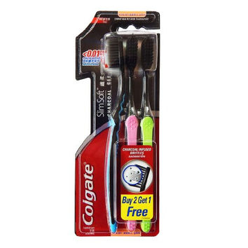 Colgate Slim Ultra Soft Charcoal Toothbrush (Pack of 3)
