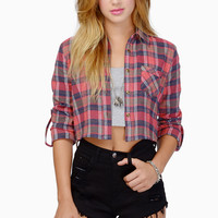Annabelle Flannel Top