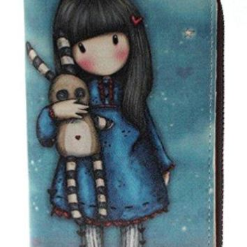 Girls Compact Cartoon Leather Wallet with Zipper Pocket