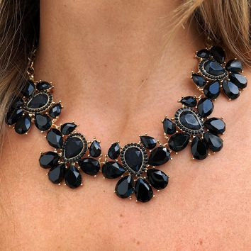 Back To Forever Necklace: Black