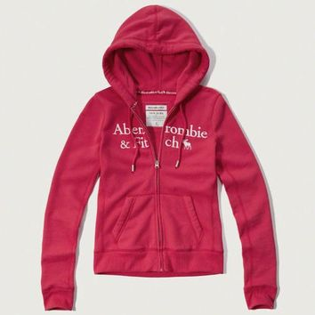 Abercrombie & Fitch Women Fashion Casual Cardigan Jacket Coat Hoodie-16