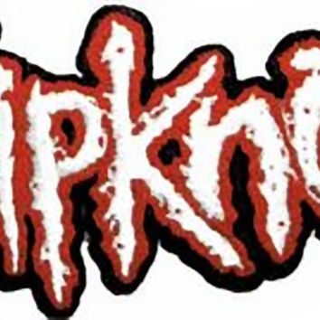 Slipknot Iron-On Patch Red And White Letters Logo