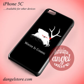Winter Is Coming Dead Wolf Phone case for iPhone 5C and another iPhone devices
