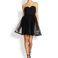 Alice + Olivia - Landi Strapless Pouf Dress
