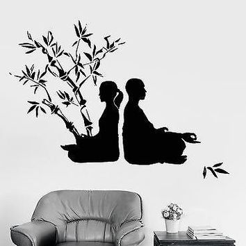 Wall Sticker Buddhism Romantic Couple Tree Chakra Zen Vinyl Decal Unique Gift (z2929)