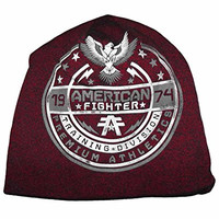 American Fighter by Affliction Capital Beanie Hat Rusted Red O/S
