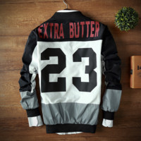 Digital printing jacket, baseball uniform male Black