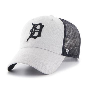 ONETOW MLB Detroit Tigers 47 Brand Gray Tamarac Clean Up Hat