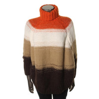 Michael Kors Womens Plus Knit Dolman Sleeves Cape Sweater