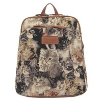 "Signare Women's Rucksack Backpack Bag Lucky Cat 11.6"" 13.3"" Up To 14"" Multicoloured"