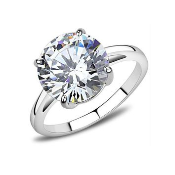 She's The One - Stainless Steel Women's 4.91ct Solitaire Ring