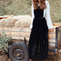 Urban Outfitters Velvet Pinafore Jumpsuit - Urban Outfitters