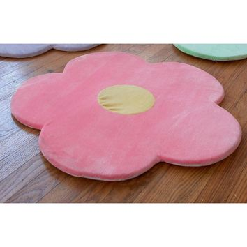"Pink Flower Area Rug for Kids Girls Room, Girls Area Rugs, Girls Room & Baby Nursery Floor Rugs, Kids Room Decorative 25"" Daisy"