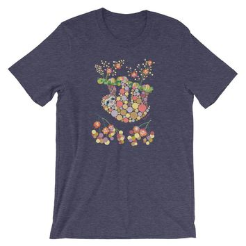 Sloth Shirt Colorful Graphic Tee - Shipping Included
