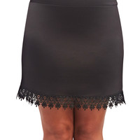 Lace Trim Skirt | Wet Seal+