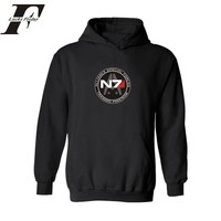 Mass Effect N7 Hoodies 2017 Spring autumn Hoodies for Men's Sweatshirt and hoodies Male hoody Tracksuit  Moletom Mass Effect