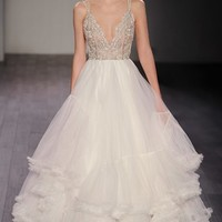 Hayley Paige 'Georgie' Embellished Bodice Tulle Ballgown (In Stores Only) | Nordstrom
