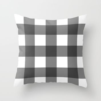 #40 Squares Throw Pillow by Minimalist Forms