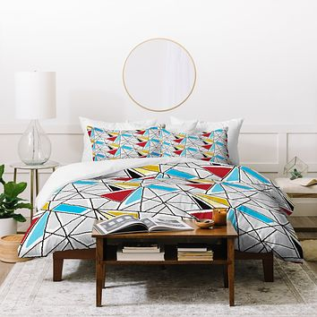 Karen Harris Shattered In Bauhaus Duvet Cover