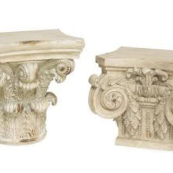 2 Wall Shelves - Romanesque
