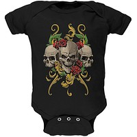 Skulls and Roses Soft Baby One Piece