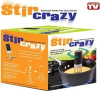 Stir Crazy, Silicone, Automatic Hands Free Pot Stirrer, 3 Legged, Black