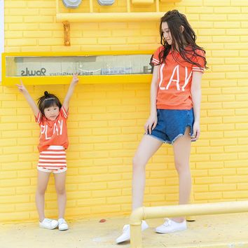 PLAY Knitted Polo Mother and Daughter/Son Tops