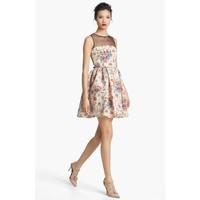 RED Valentino Flower & Polka Dot Print Dress Sand Size 6 US / 44 IT