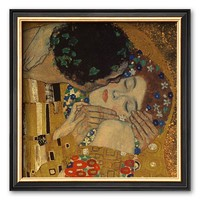 Art.com ''The Kiss, 1907'' Framed Art Print by Gustav Klimt (Black)