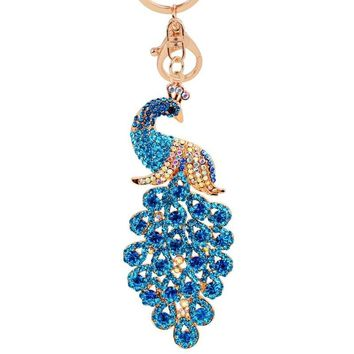 Colorful 3D Peacock Keychain