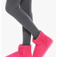 Pink Malibu Babe Faux Fur Lined Booties | $10.00 | Cheap Trendy Boots Chic Discount Fashion for Wome