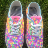 Colorful Fruity Pebbles Customized Canvas shoes