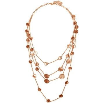 MANON LAYERED NECKLACE IN ROSE GOLD