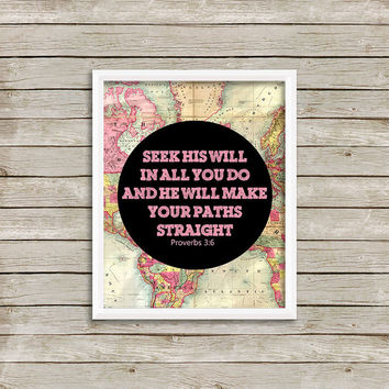 Scripture Verse Wall Art, Print 8 x 10 INSTANT Digital Download Printable