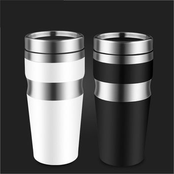 New Fashion Thermos Cup Not Leak-proof Stainless Steel Thermoscup Car Water Cup Coffee Mug 400ML Transhome