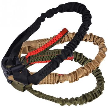 Outdoor Multifunctional Harnesses Safety Belt Lanyard Tactical Single Point Rifle Gun Sling Rope for CS Game Climbing