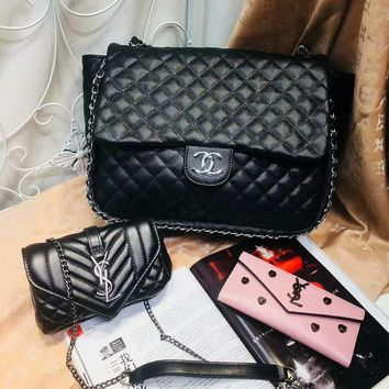 Year-End Promotion 3 Pcs Of Bags Combination (Chanel Big Bag ,YSL Little Bag ,YSL Wallet)