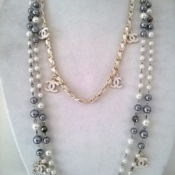 Beautiful Designer Inspired Modern Statement Pearl Necklace