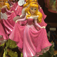 disney parks princess aurora glitter resin christmas ornament new with tag