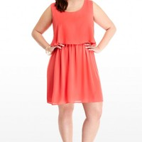 Plus Size Georgette Dress with Lace Back | Fashion To Figure