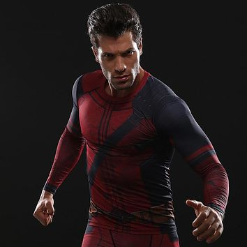 Fun Deadpool 2 3D Printed T shirts Men Compression Shirt 2018 New Arrival Comics Cosplay Costume Clothing Long Sleeve Tops Male