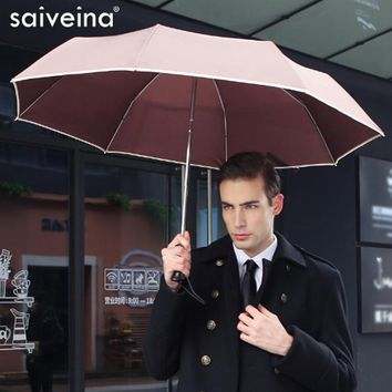 SAIVEINA Fully-automatic men business folding umbrella three fold Adults Children Umbrellas Sunny Rain for Men Women umbrella