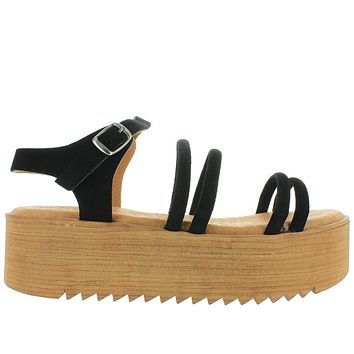Musse & Cloud Ikane - Black Strappy High Platform Sandal
